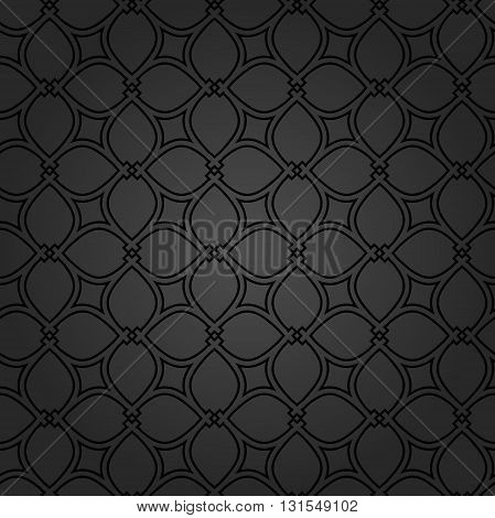 Seamless ornament. Modern geometric dark pattern with repeating elements