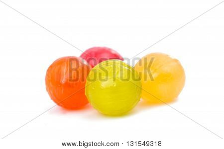 sucker candy lollipops isolated on white background