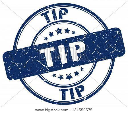 Tip Blue Grunge Round Vintage Rubber Stamp.tip Stamp.tip Round Stamp.tip Grunge Stamp.tip.tip Vintag