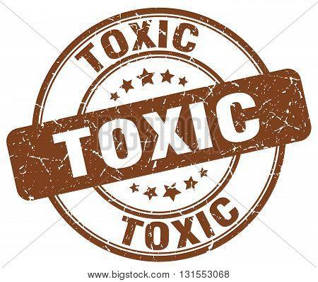 Toxic Brown Grunge Round Vintage Rubber Stamp.toxic Stamp.toxic Round Stamp.toxic Grunge Stamp.toxic