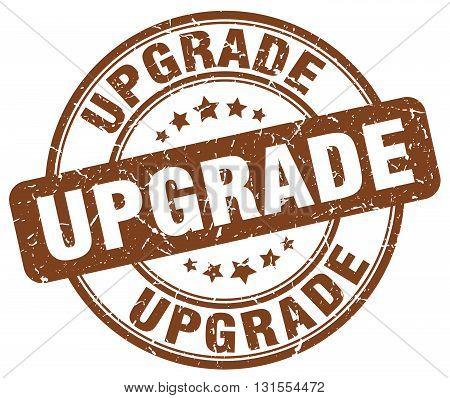 Upgrade Brown Grunge Round Vintage Rubber Stamp.upgrade Stamp.upgrade Round Stamp.upgrade Grunge Sta