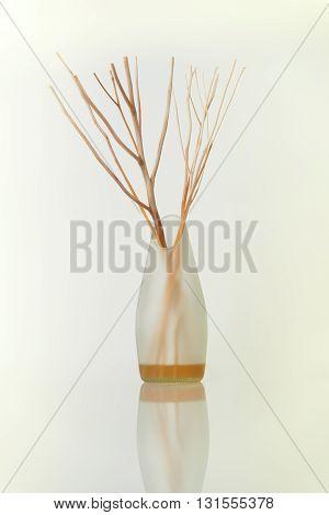 Aromatherapy oil bottle on a white background.
