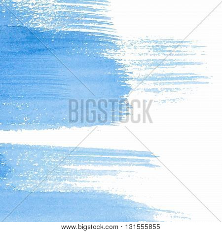 Abstract background. Paint brush strokes with rough edges. Color brush illustration.