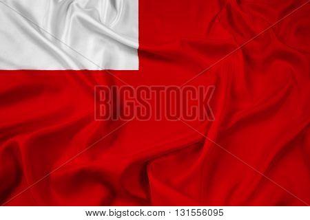 Waving Flag of Abu Dhabi, with beautiful satin background