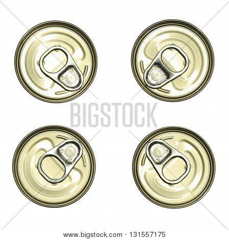 metallic golden tin can food containers set