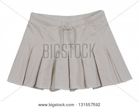 gray skirt isolated on white background