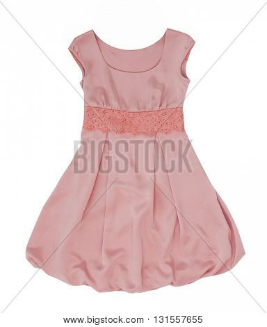 pink dress isolated on white background