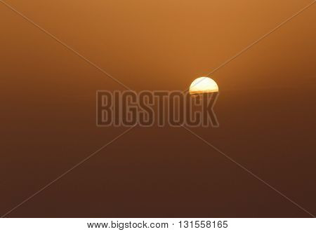 natural background: view on clear sunset sky