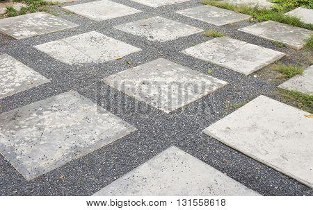 Road in the garden or stone way into garden texture