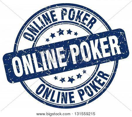 online poker blue grunge round vintage rubber stamp.online poker stamp.online poker round stamp.online poker grunge stamp.online poker.online poker vintage stamp.