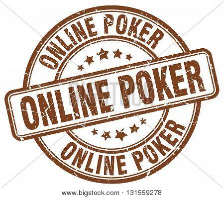 online poker brown grunge round vintage rubber stamp.online poker stamp.online poker round stamp.online poker grunge stamp.online poker.online poker vintage stamp.