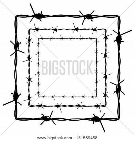 Barbed Wire Silhouette