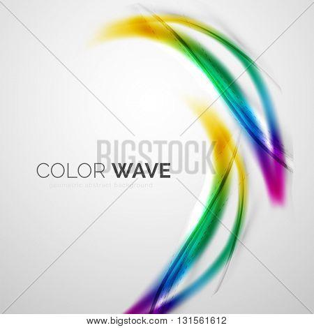 Color wave vector design element