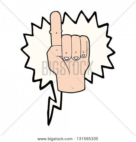 freehand drawn speech bubble cartoon pointing finger