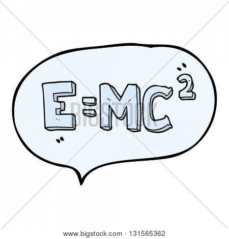 freehand drawn speech bubble cartoon science formula