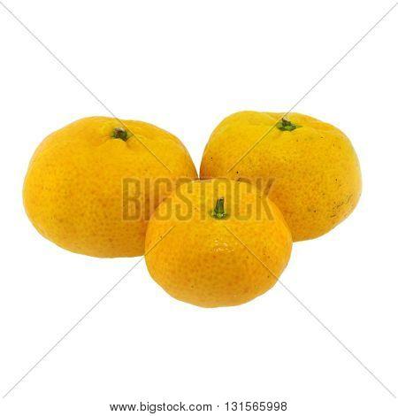 Orange fruit isolated on a white background