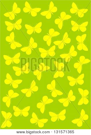 Colourful background with butterflies  - vector illustration