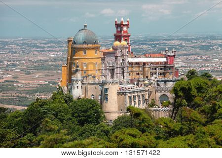 Pena king's palace in Sintra in Portugal