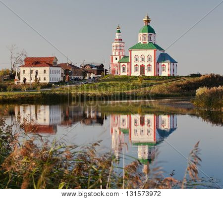 Church in old Russian town - Suzdal