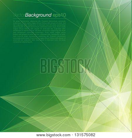 Stylish green triangular light company document background