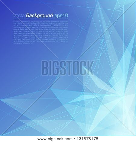 Vector blue polygonal corporate document background template