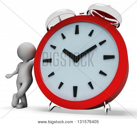 Clock Alarm Shows Render Illustration And Ringing 3D Rendering