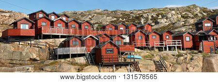 A lot of Fisherman's houses in Sweden