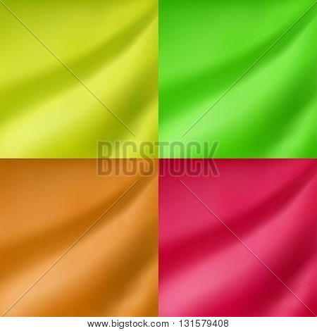 Abstract green yellow orange pink color gradient blur background illustration vector