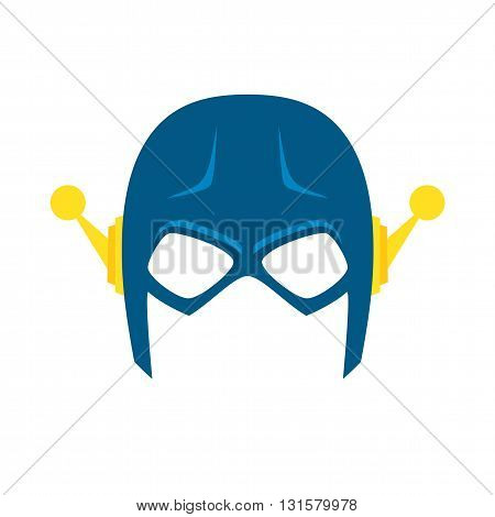 Super hero blue mack. Superhero mask for face character in flat style. Masks of heroic, savior or superhero. Comic super hero mask vector illustration. Super hero photo props. Super hero face. Spider