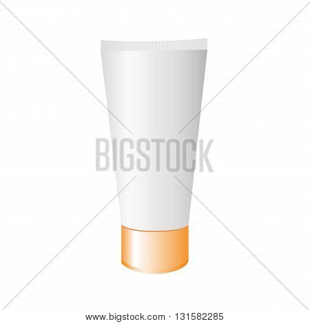 Tube cream isolated on a white background. Vector image.