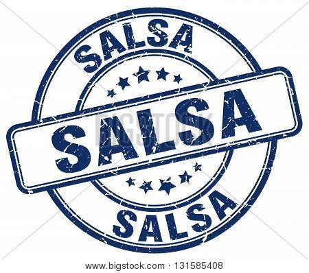 salsa blue grunge round vintage rubber stamp.salsa stamp.salsa round stamp.salsa grunge stamp.salsa.salsa vintage stamp.