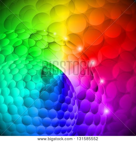 Seamless spotted multi-colored spherical abstraction. Disco gradients