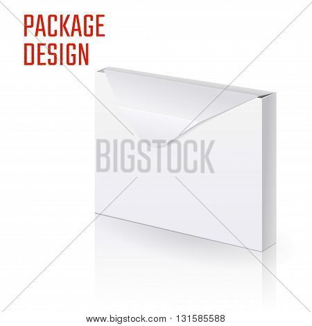 Vector Illustration of Envelope paper or craft Box for Design, Website, Background, Banner. Folding package Template. Fold Post pack isolated for your corporate brand on it
