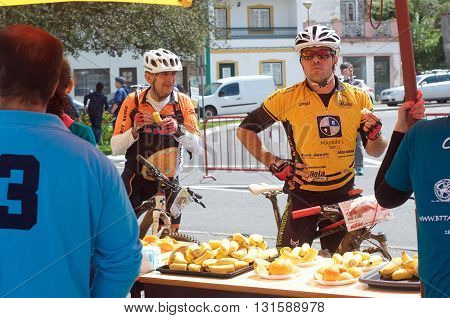 CERCAL, PORTUGAL - May 15: annual mountain bike race between Alvalade and Porto Covo, with refueling stop in the village May 15, 2016