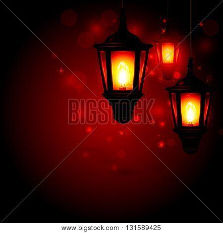 Street lantern - Ramadan Kareem greeting background