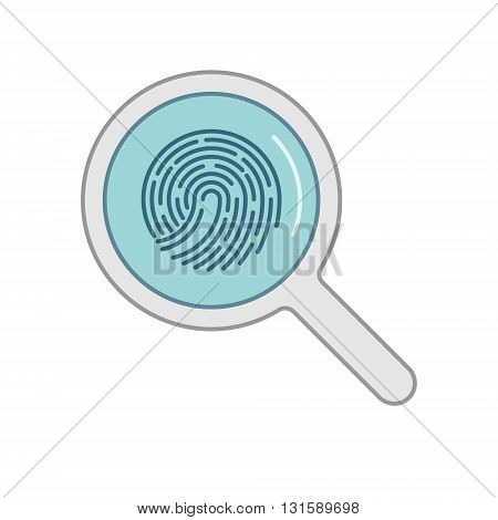 Vector line icon search fingerprints. Linear symbol for search fingerprints.