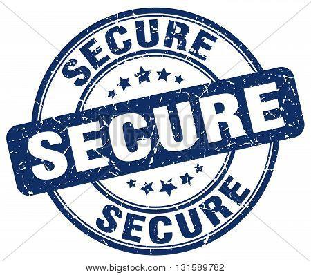secure blue grunge round vintage rubber stamp.secure stamp.secure round stamp.secure grunge stamp.secure.secure vintage stamp.