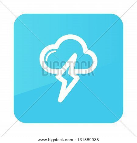 Cloud Lightning outline icon. Meteorology. Weather. Vector illustration eps 10