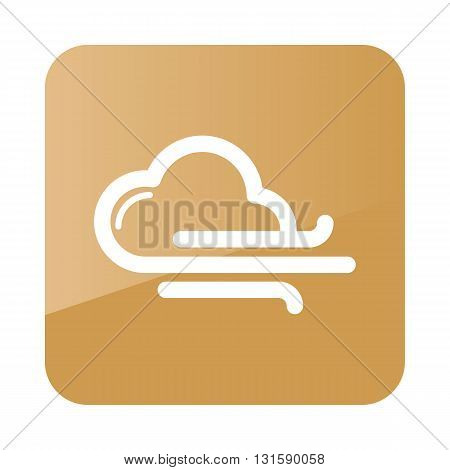 Cloud blows Wind outline icon. Meteorology. Weather. Vector illustration eps 10
