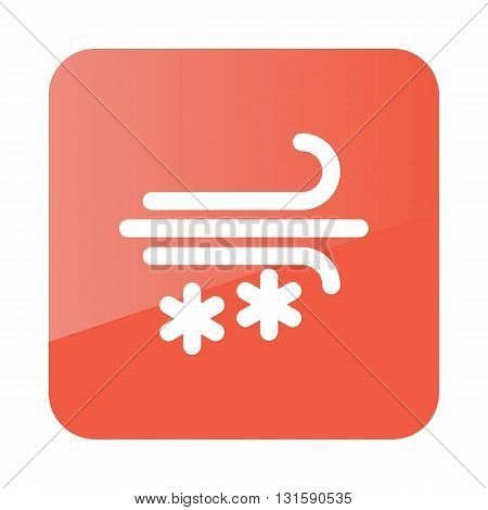 Wind Snow Snowstorm outline icon. Meteorology. Weather. Vector illustration eps 10
