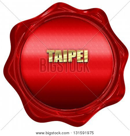 taipei, 3D rendering, a red wax seal