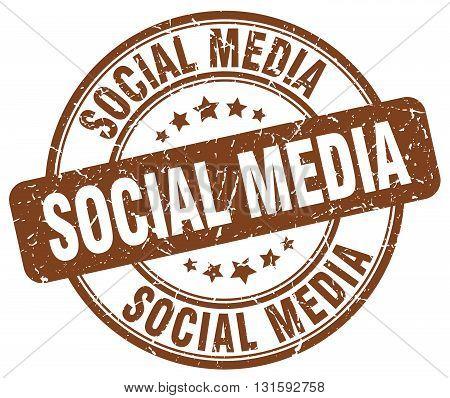 social media brown grunge round vintage rubber stamp.social media stamp.social media round stamp.social media grunge stamp.social media.social media vintage stamp.