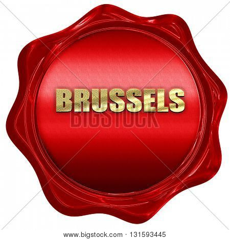 brussels, 3D rendering, a red wax seal