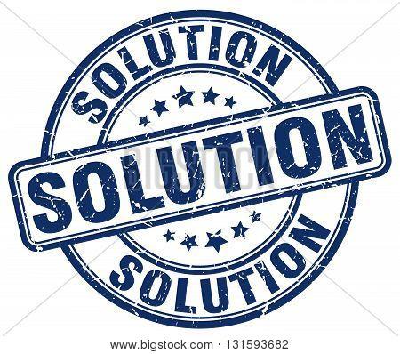 solution blue grunge round vintage rubber stamp.solution stamp.solution round stamp.solution grunge stamp.solution.solution vintage stamp.