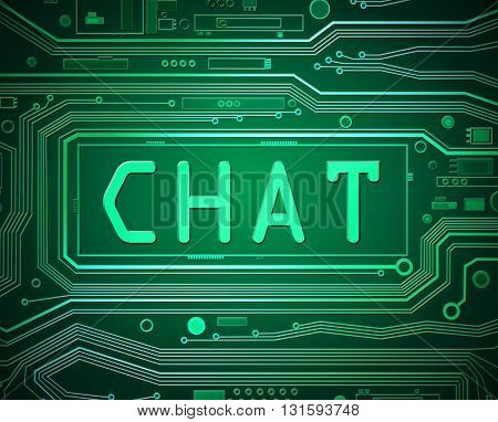 Online Chat Concept.