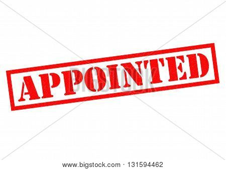 APPOINTED red Rubber Stamp over a white background.