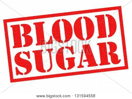 BLOOD SUAGR red Rubber Stamp over a white background.
