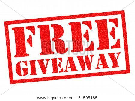 FREE GIVEAWAY red Rubber Stamp over a white background.