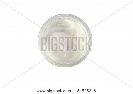 cream for face isolated on white background