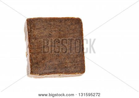 Handmade soap bar isolated over white background